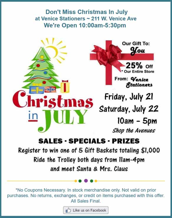 Venice FL Christmas In July